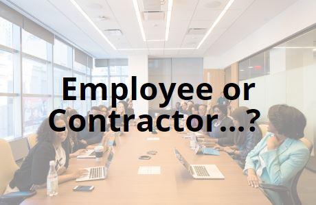 employee or contractor?